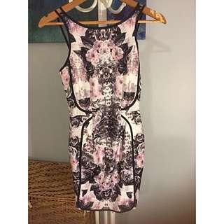 Purple Print Dress BNWT