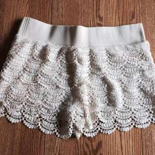 Lace Shorts Size L