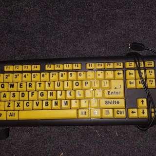 Bright Yellow USB Keyboard