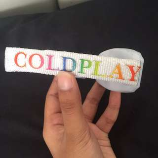 Coldplay wristband Official