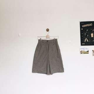 Valentino細格紋及膝寬褲