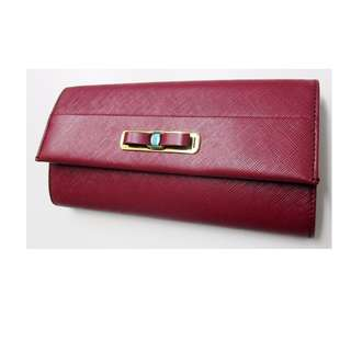 Salvatore Ferragamo 22-C127 VIN PRINTED CALF leather fold wallet Red  USD 480 (SHIP FROM JAPAN)
