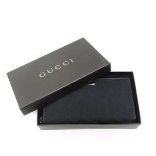 GUCCI Black CANVAS GG LONG WALLET  112724 F40IR  USD 320 (SHIP FROM JAPAN)