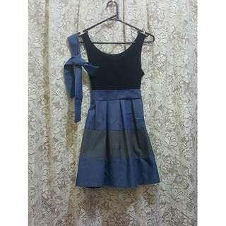Chambray and Lace Mini Dress