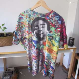 Donald Glover / Childish Gambino Psychedelic Print T-Shirt
