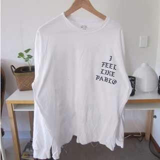 Kanye - I feel like Pablo - White Long Sleeve T