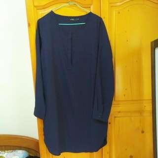 #謝師宴 #深藍Queen Shop Lady 洋裝
