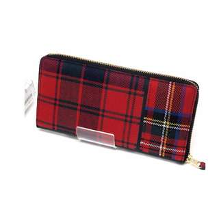 COMME des GARCONS tartan patch work wallet long wallet men's ladies USD 330 (SHIP FROM JAPAN)
