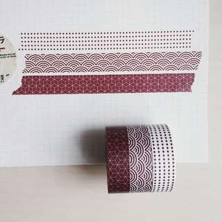 MUJI Red Pattern [Washi tape by metre]
