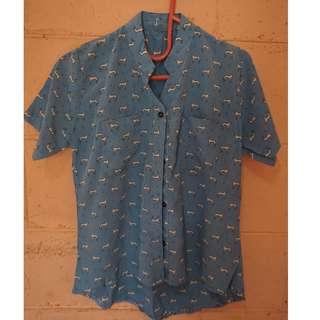 DOGE blouse blue
