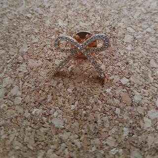 Rose Gold Ribbon Pin