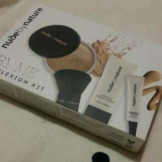 Nude By Nature Complexion Kit (Powder Foundation, Brush, Primer And Concealer) 'Medium'