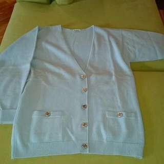 Chanel vintage cashmere cardigan (pale blue)