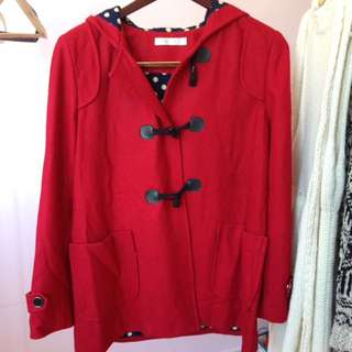 Quirky Circus Red Peacoat
