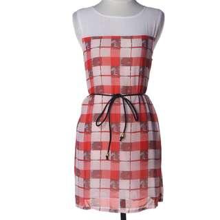Block Dress with belt