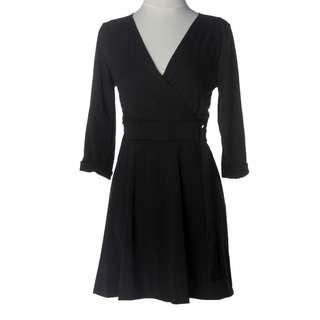 Overlap Fit Flare Dress