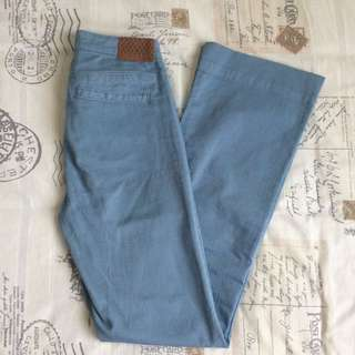 Tiger lily Branded Size Small/ 8 High Waisted Light Blue Denim Flare Vintage Retro Style Jeans With Pockets