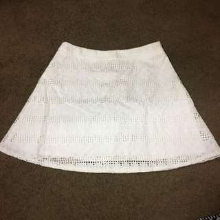 12 White Lace Skirt