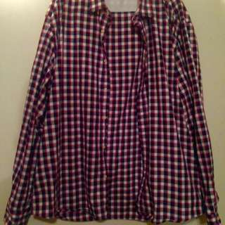 3XL Checkered Dress Shirt