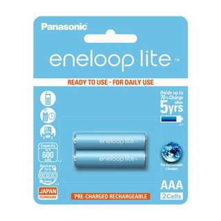 Panasonic Eneloop Lite AAA Rechargeable Batteries 2 piece pack