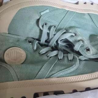 Sepatu Palladium Pallabrous Granite Green