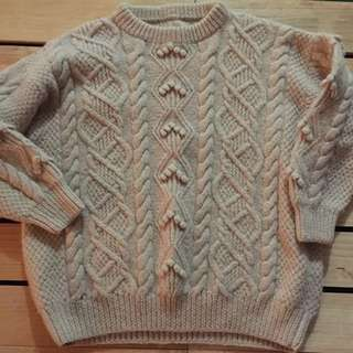 Hand Knitted Wooden Jumper
