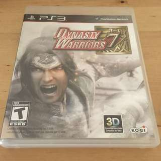Dynasty Warriors 7 For Sony PlayStation 4 Ps3
