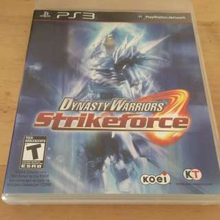 Dynasty Warriors Strikeforce For Sony PlayStation 3 PS3