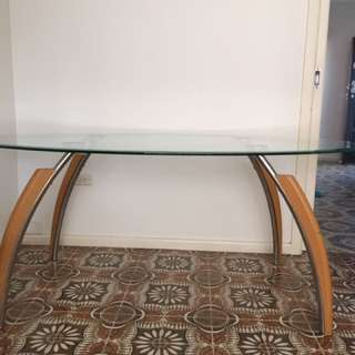 Solid Glass Dining Table For Free