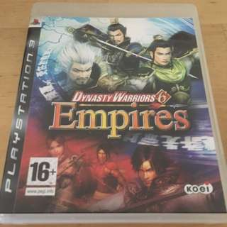Dynasty Warriors 6 Empires For Sony PlayStation 3 PS3