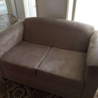Suede 2 Seater Lounge
