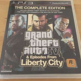 Grand Theft Auto IV For Sony PlayStation3 PS3