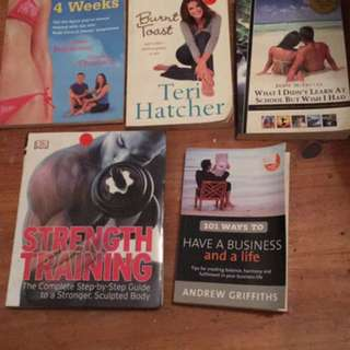 Self Help Books $8 Each