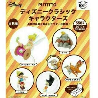 🚚 Putitto 迪士尼經典角色 小精靈 小木偶 小鹿斑比 空中盒