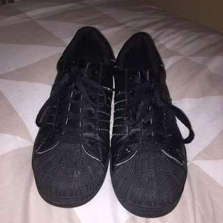 Adidas Superstars All Black