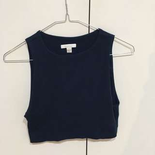 Kookaï Navy Crop