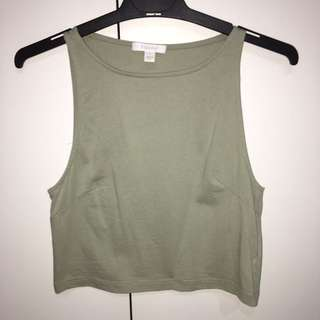 Olive Green Kookaï Crop