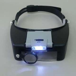 附放大鏡LED 頭帶工作燈