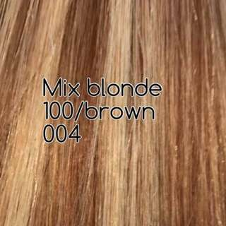 Clip Ins Hair Extensions Blonde&Brown 18 Inches