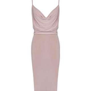Slinky Cowl Bodycon Dress