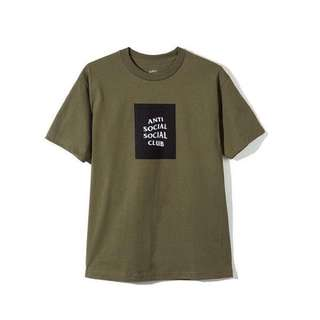 AntiSocialSocialClub THE CLUB TEE MILITARY GREEN T Shirt