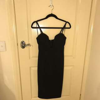 Black Low-V Neck Dress