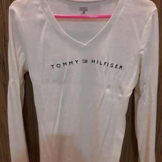 Authentic Tommy Hilfiger Long Sleeve V Neck Tee