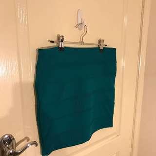 Dotti Teal Bandage Skirt