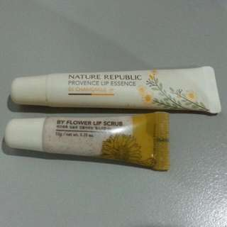 AUTHENTIC NATURE REPUBLIC PROVENCE LIP ESSENCE & LIP SCRUB
