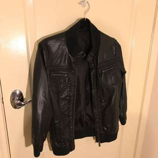 Faux Boys Leather Jacket