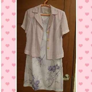 紫色套裝(二手) #三百元外套