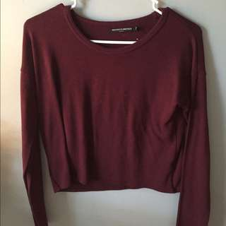 Brandy Melville Burgandy Long-Sleeve
