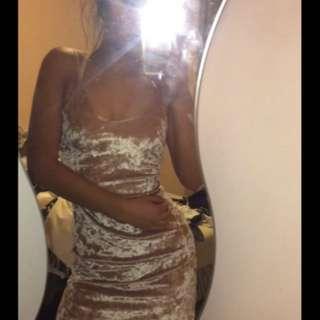 minkpink suede dress