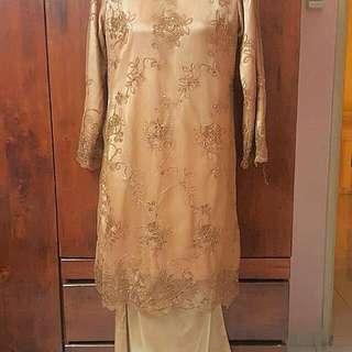 PRELOVED JAKEL BROWN DRESS ( BAJU KURUNG MODERN)